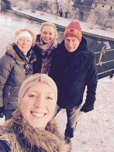 Selfie taken by Cajsa with her family in Sweden